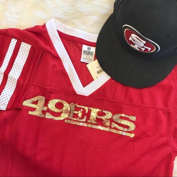 super popular 82b7a 7bd1c Victoria's Secret Pink 49ers sequin Jersey NWT